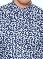 Jack & Jones Desenli Uzun Kollu Gömlek Lacivert